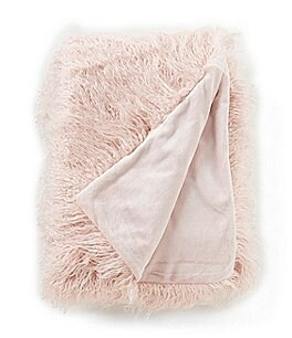 Image of Noble Excellence Frosted Luxe Collection Callista Mongolian Faux-Fur Throw