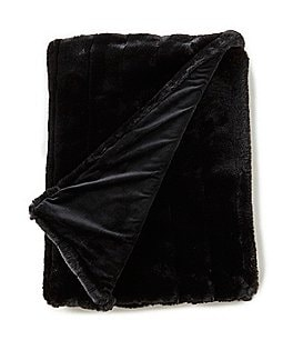 Image of Noble Excellence Warm Shop Collection Fallon Channel-Stitched Faux-Fur Throw