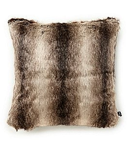 Image of Noble Excellence Warm Shop Collection Ombre Stripe Faux Fur Pillow