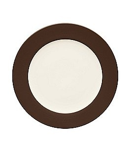 Image of Noritake Colorwave Chocolate Coupe Rimmed Stoneware Round Platter