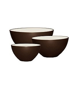 Image of Noritake Colorwave Coupe Matte & Glossy Stoneware 3-Piece Bowl Set