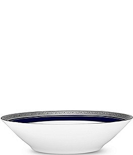 Image of Noritake Crestwood Cobalt Platinum Porcelain China Soup Bowl