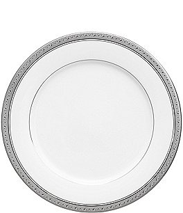 Image of Noritake Crestwood Etched Platinum Porcelain Dinner Plate