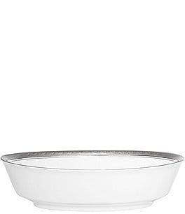 Image of Noritake Crestwood Etched Platinum Porcelain Oval Vegetable Bowl