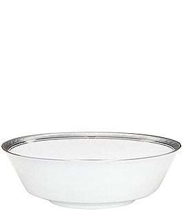 Image of Noritake Crestwood Etched Platinum Porcelain Round Vegetable Bowl