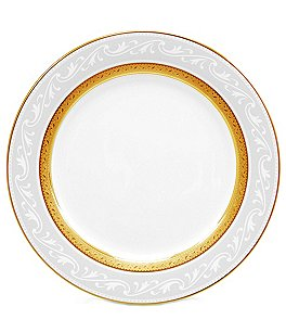 Image of Noritake Crestwood Gold Bone China Accent Salad Plate
