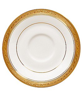 Image of Noritake Crestwood Gold Embossed Scroll & Leaf Bone China Saucer