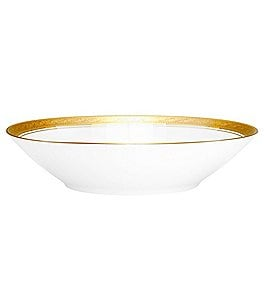 Image of Noritake Crestwood Gold Scroll & Leaf Bone China Soup Bowl