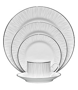 Image of Noritake Glacier Platinum 5-Piece Place Setting