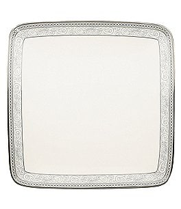 Image of Noritake Meridian Cirque Filigree Platinum Small Square Plate