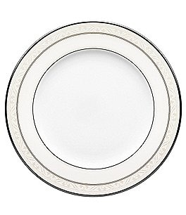 Image of Noritake Montvale Scroll Platinum Bone China Salad Plate