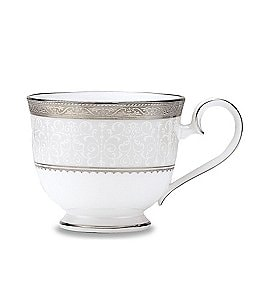 Image of Noritake Odessa Floral Platinum Bone China Cup