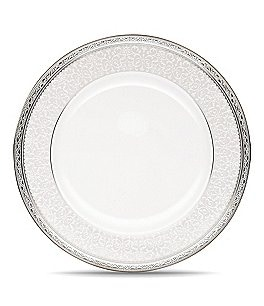 Image of Noritake Odessa Floral Platinum Bone China Dinner Plate