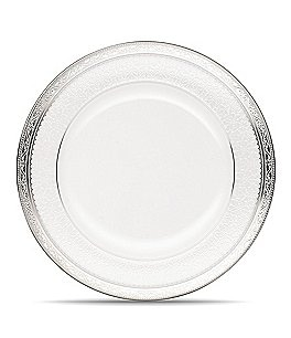 Image of Noritake Odessa Floral Platinum Bone China Salad Plate