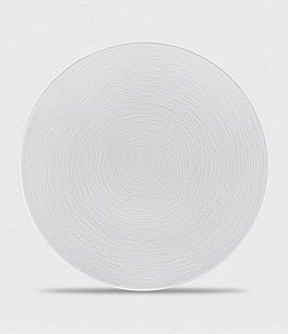 Image of Noritake White on White Collection Swirl Salad Plate
