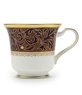 Image of Noritake Xavier Gold Paisley Bone China Cup