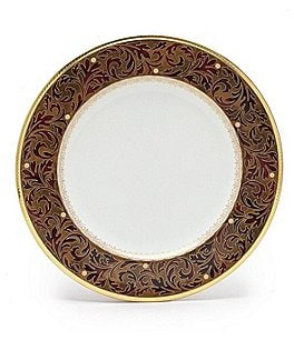 Image of Noritake Xavier Gold Paisley Bone China Salad Plate