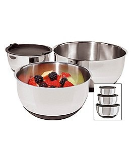 Image of Oggi Non-Skid Stainless Steel Bowl Set