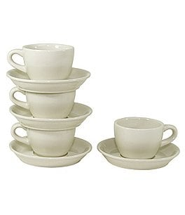 Image of Oneida Buffalo China 8-Piece Cup & Saucer Set
