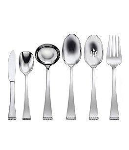 Image of Oneida Classic Pearl Beaded Stainless Steel Flatware