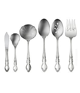 Image of Oneida Dover Floral Stainless Steel Flatware