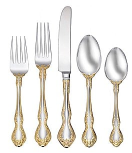 Image of Oneida Golden Mandolina 45-Piece Stainless Steel Flatware Set