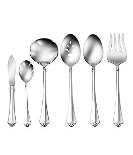 Image of Oneida Juilliard Fleur-de-Lis Stainless Steel 6-Piece Serving Set