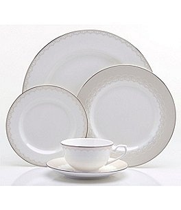 Image of Oneida Juilliard Vintage Lace 20-Piece Bone China Dinnerware Set
