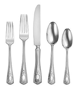 Image of Oneida Louis XVI 1911 45-Piece Stainless Steel Flatware Set