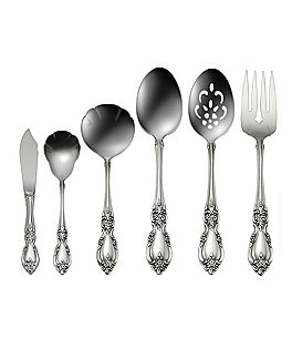 Image of Oneida Louisiana Floral Fiddleback Stainless Steel Flatware