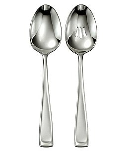 Image of Oneida Moda 2-Piece Stainless Steel Serving Spoon Set