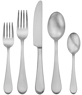 Image of Oneida Satin Icarus 45-Piece Stainless Steel Flatware Set