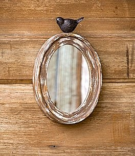 Image of Park Hill Wood Oval Mirror