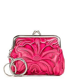 Image of Patricia Nash Burnished Tooled Collection Borse Coin Case