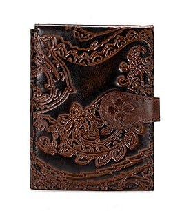 Image of Patricia Nash Burnished Tooled Lace Collection Passport Case