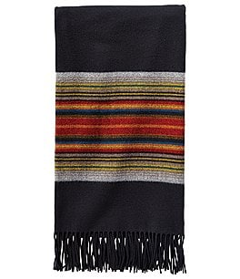 Image of Pendleton 5th Avenue Collection Acadia Park Fringed Merino Wool Throw