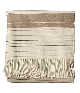 Image of Pendleton 5th Avenue Collection Fringed Striped Throw
