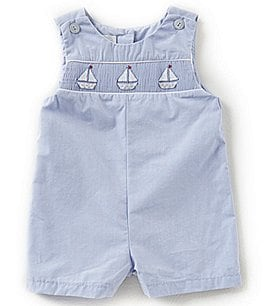 Image of Petit Ami Baby Boys 3-24 Months Sailboat Shortall