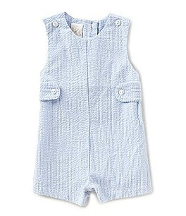 Image of Petit Ami Baby Boys 3-24 Months Seersucker Shortall
