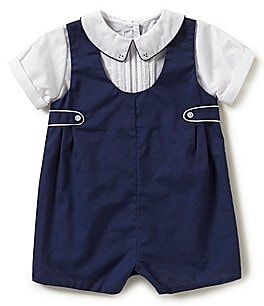 Image of Petit Ami Baby Boys 3-9 Months Shortall