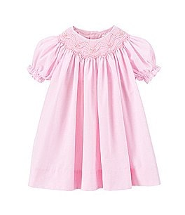 Image of Petit Ami Baby Girls 12-24 Months Smocked Gingham Dress