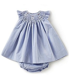 Image of Petit Ami Baby Girls 3-24 Months Flutter-Sleeve Sailboat Dress