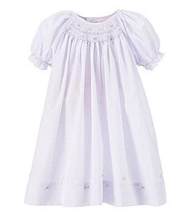 Image of Petit Ami Baby Girls Preemie-9 Months Smocked Dress