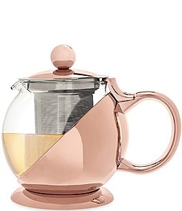 Image of Pinky Up Shelby Rose Gold Wrapped Teapot & Infuser