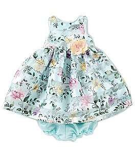 Image of Pippa & Julie Baby Girls 12-24 Months Floral-Applique Printed Dress