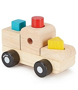 Image of Plan Toys Wooden Sorting Puzzle Toy Truck