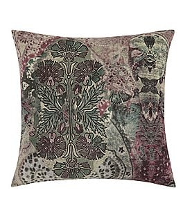 Image of Poetic Wanderlust™ by Tracy Porter Amelia Floral Velvet & Faux-Silk Square Feather Pillow