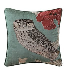 Image of Poetic Wanderlust™ by Tracy Porter Emmeline Owl-Embroidered Square Feather Pillow