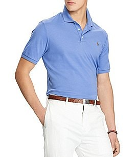 Image of Polo Ralph Lauren Big & Tall Classic-Fit Cotton Soft Solid Short-Sleeve Polo Shirt