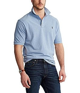 Image of Polo Ralph Lauren Big & Tall Classic-Fit Short-Sleeved Cotton Mesh Polo Shirt